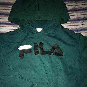 UO x FILA cropped hoodie
